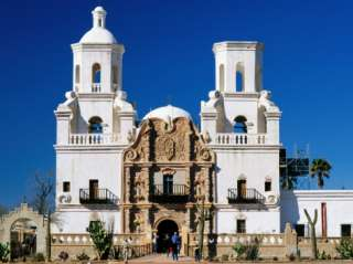 Mission San Xavier del Bac, Tucson, Arizona Photographic Print by