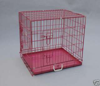 Pet Folding Suitcase Dog Cat Crate Cage Kennel w/ABS Tray LC