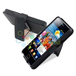 Case+Privacy LCD+Car Charger+USB For Samsung Galaxy S2 i9100