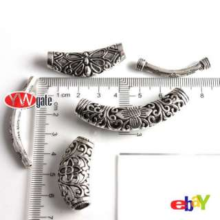 Various Tibetan Silver Tube Spacer Charms Bead Fit Bracelet /Necklace