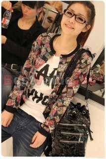 Fashion Sweater Girl Lady Long Sleeve Comic Cartoon Jacket Outerwear 2
