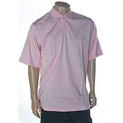 Ralph Lauren Mens Striped Pink Golf Polo Shirt