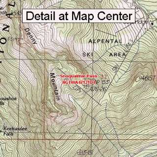 USGS Topographic Quadrangle Map   Snoqualmie Pass