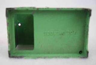 Vintage Tootsie Toys Green Metal Dollhouse Miniatures Furniture 2pc