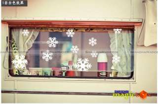 Art Decor Wild Section Wall/Window Glass Sticker Christmas Snowflake