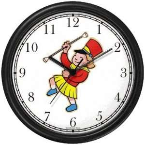 Drum Major or Majorette of Marching Band Wall Clock by