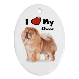 I Love My Chow Chow Ornament (Oval)