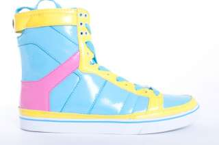 NEW MENS RADII THRILLER PASTEL PATENT LEATHER HIGH TOP SNEAKERS SHOES