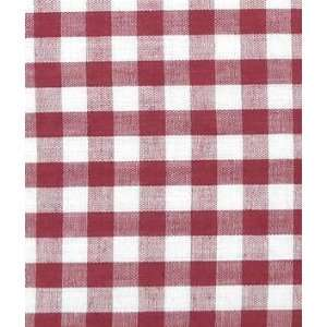 Burgundy Gingham Fabric 1/4 Fabric: Arts, Crafts & Sewing