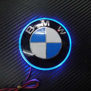 LED Car Decal Logo Light Badge Lamp Emblem Sticker for Blue BMW