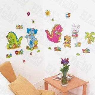Kids Room Dinosaurs Letters Alphabet Wall Mural Sticker