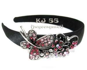 Flower Butterfly Rhinestone Headbands Color New H243145