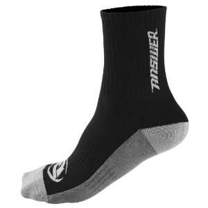 Answer Crew Socks , Gender Mens, Color Black/Gray, Size