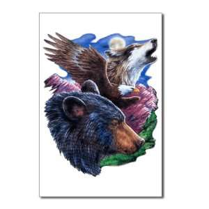 Postcards (8 Pack) Bear Bald Eagle and Wolf: Everything Else