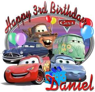 Mcqueen Mater Custom Personalized Birthday Party Supplies T Shirt