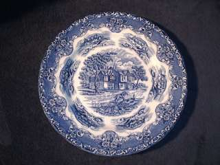 Grindley English Country Inns Blue Dinner Plate s 10