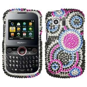 Crystal Diamond Bling Hard Phone Case Cover for Cricket Huawei Pillar