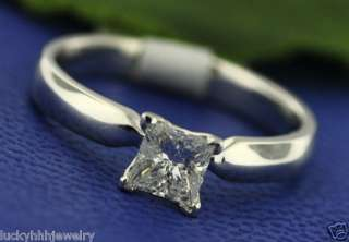 54 ct DIAMOND SOLITAIRE RING WHITE GOLD princess cut