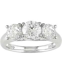 2ct TDW Round Diamond Three stone Ring (I J, I1 I2)