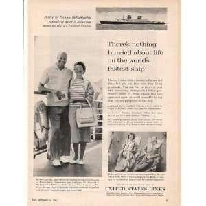 Mrs James Roosevelt US Lines Cruise Print Ad (16706)