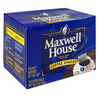 Maxwell House Coffee Singles,Original Roast 19 Count Single Serve Bags