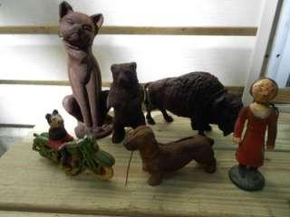 STILL BANKS BUFFALO BEAR DOG/PUPPY CAT OLIVE OYL + MICKEY MOUSE