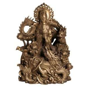 Chinese Quan Yin Copper Statue: Home & Kitchen