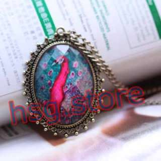 retro Fashion Nice charm peacock Feather style Necklace pendant XL67
