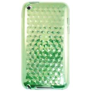 Green Hexagon Pattern Gel Case for Apple iPod Touch 4th