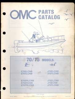 1982 OMC / JOHNSON EVINRUDE 70 / 75 HP OUTBOARD MOTOR PARTS MANUAL