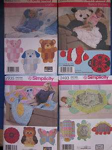 Simplicity Rag Quilt~Fleece Throw Sewing Pattern