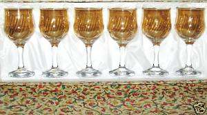 Cristal Mode Set of 6 Wine Glasses Gift Boxed
