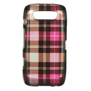 BlackBerry Torch 9850/9860 Graphic Case   Hot Pink Checker