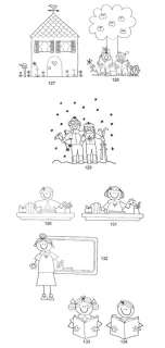 Stick Figure/People Coloring Book Great gift Cute