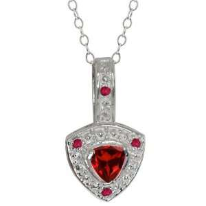 0.57 Ct Genuine Trillion Red Garnet Gemstone Sterling
