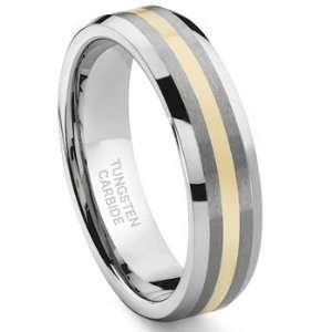 Carbide 14K Gold Inlay Wedding Band Ring Sz 8.5 SN#114 Jewelry