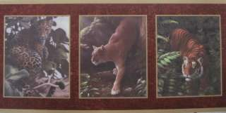 COUGAR, TIGER & LEOPARD IN FRAMES Wallpaper bordeR Wall
