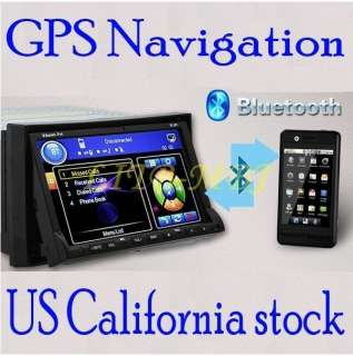 DOUBLE DIN HD CAR DVD PLAYER RADIO GPS NAVIGATION+MAP+IPOD SD