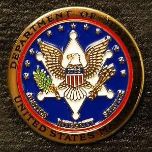 US Marshals Seal Pin (Gold Finish)