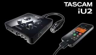 TASCAM IU2 MIDI iOS USB Dock Interface iPod Touch iPad iPhone Mac PC