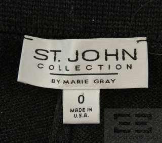 St. John Basics And Collection 2 Pair Grey And Black Knit Pant Set