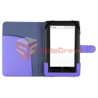 For Nook Color Flip Portable Slim Folio Case Leather Case Cover Pouch