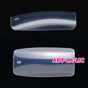500 Clear Full Cover Acrylic False Nail Art Tips