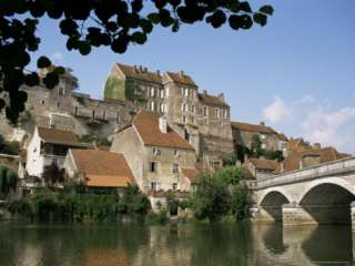 of Pesmes, on River Ognon, Franche Comte, France Photographic Print
