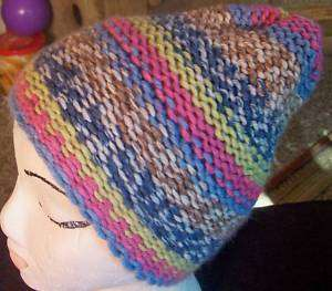 AWESOME WARM HAND KNITTED LADIES/TEEN MULTI COLORED HAT