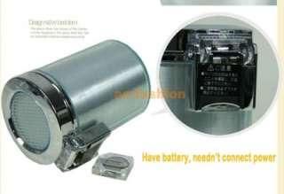 Car Auto LED Light Cigarette Smokeless Ashtray Holder silver
