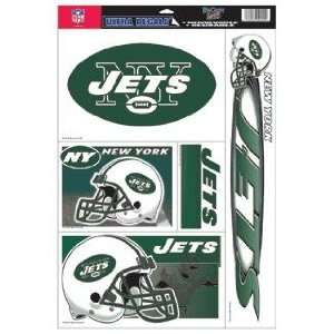 New York Jets Decal Sheet Car Window Stickers Cling