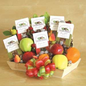 GOURMET GIFT BASKETS FRUIT NUTS HEALTHY GOODIES