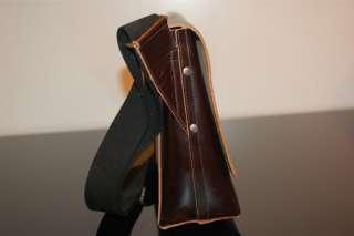 Mens Thick Leather Messenger Briefcase Satchel Travel Bag NR