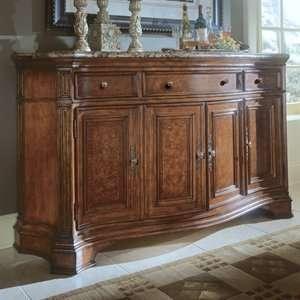 Universal Furniture 409678 Storage Credenza Marble Top Sideboard